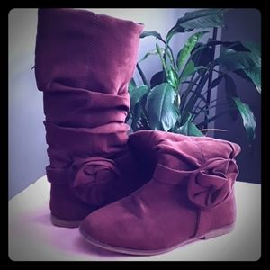 Girls size 11 knee high boots